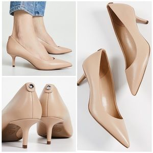 Michael Kors Shoes - Michael Kors Kitten Heel Leather Pumps